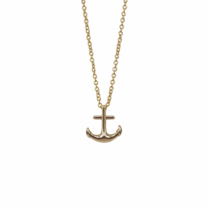 Anchor Mini Metal Necklace