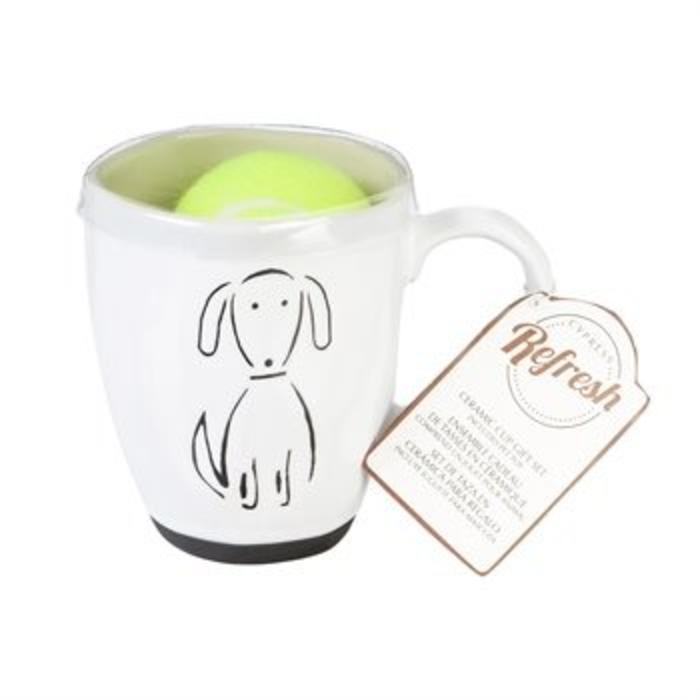 Ceramic Cup Gift Set Pet Dog 16oz