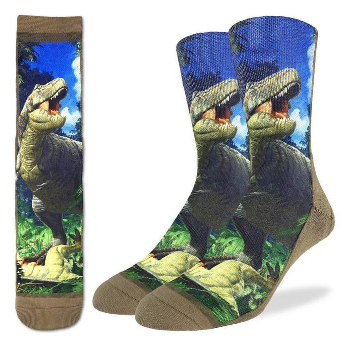 Men's Tyrannosaurus Rex Dinosaur Socks