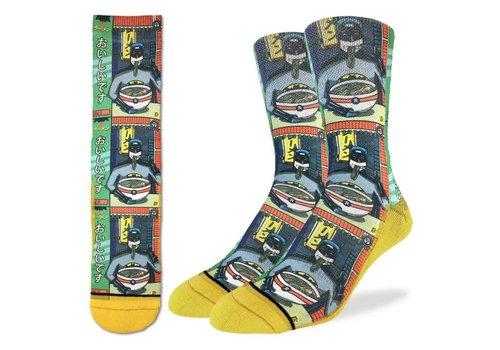 Good Luck Sock Men's Batman and Ramen Socks