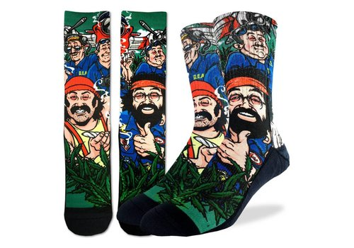 Good Luck Sock Men's Cheech and Chong DEA Socks