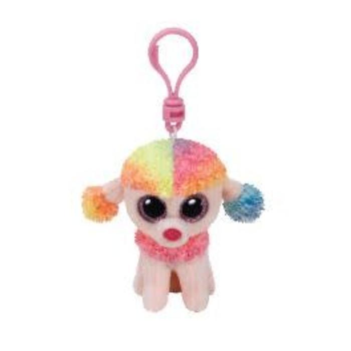 Rainbow Multicolor Poodle Clip