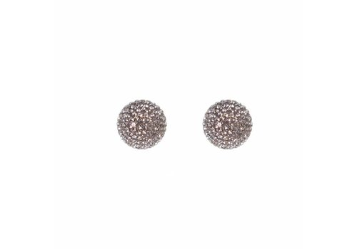 Park & Buzz Micro Pave Radiance Stud Charcoal