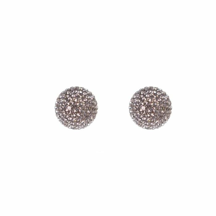 Micro Pave Radiance Stud Charcoal