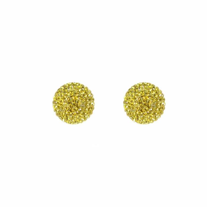 Micro Pave Radiance Stud Yellow