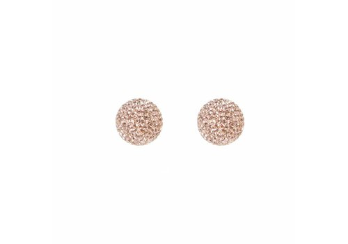 Park & Buzz Micro Pave Radiance Stud Rose Gold