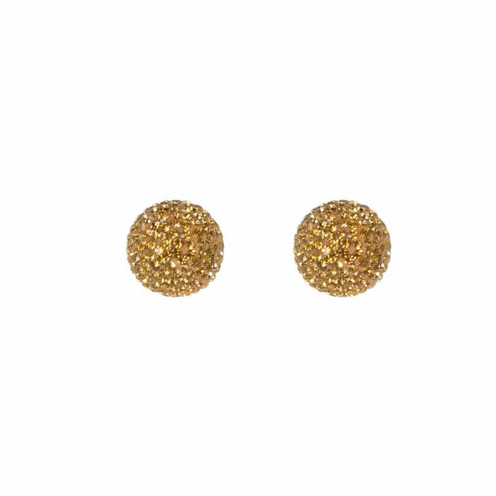 Micro Pave Radiance Stud Harvest Yellow