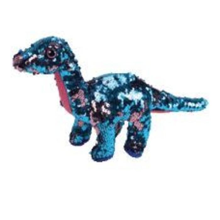 Tremor Aqua and Pink Sequin Dinosaur