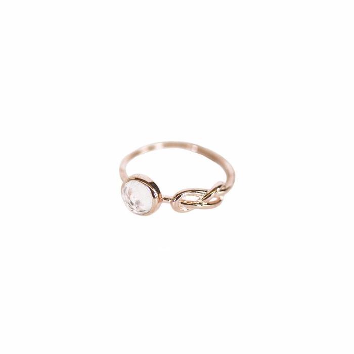 Moonstone Love Knot Ring