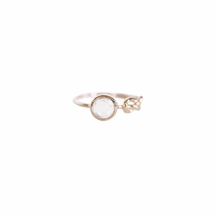 Moonstone Love Knot Ring