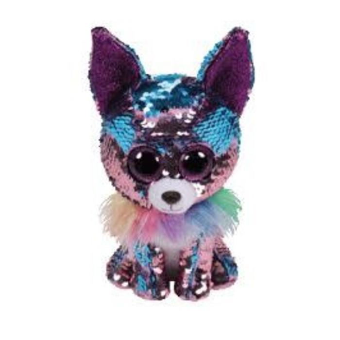 Yappy Blue and Purple Sequin Chihuahua