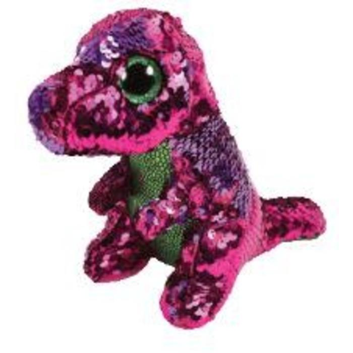Stompy Sequin Dinosaur Pink and Green