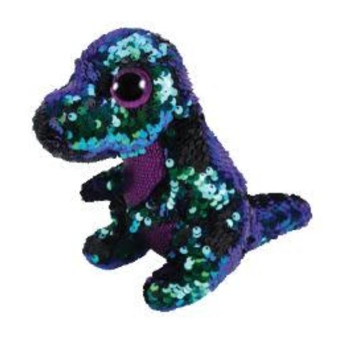 Crunch Sequin Dinosaur Green and Purple