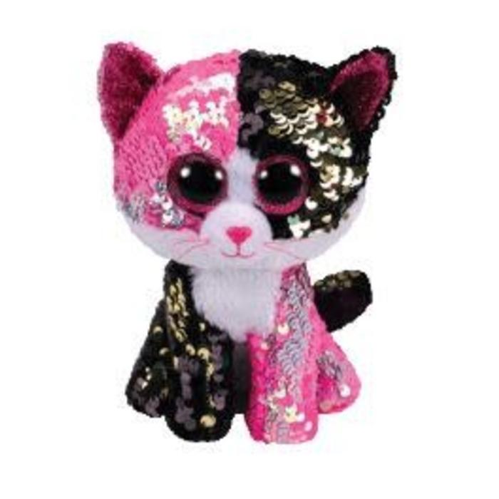 Malibu Pink and Black Sequin Cat