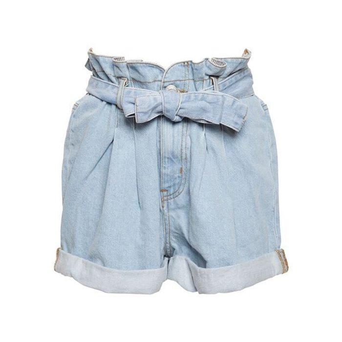 Paperbag Belted Waist Shorts
