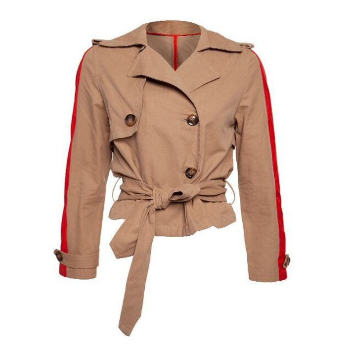 Trench Coat With Stripe Detail