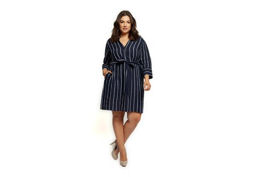 Dex Plus Belted Tunic Dress