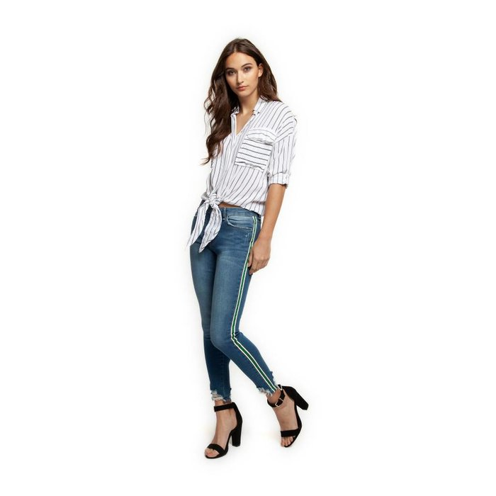 Athletic Side Tape Super Skinny Jean