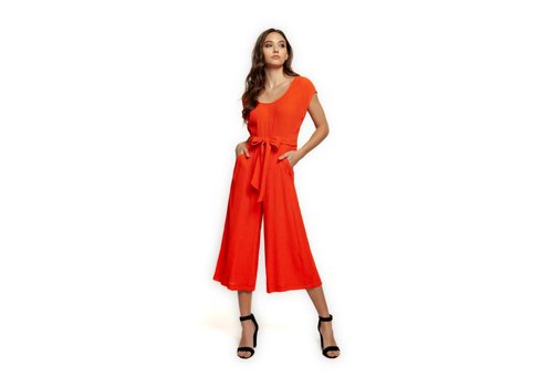 Dex Deep Scoop Neck Jumpsuit