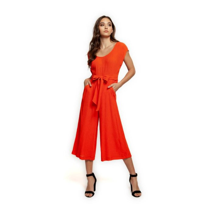 Deep Scoop Neck Jumpsuit