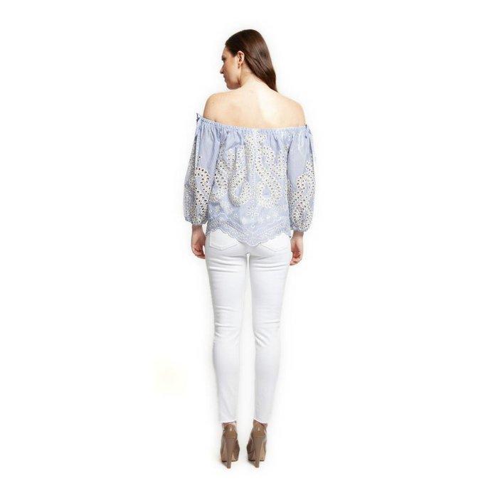 3b760fd886ed3 Embroidered Off Shoulder Shirt · Embroidered Off Shoulder Shirt