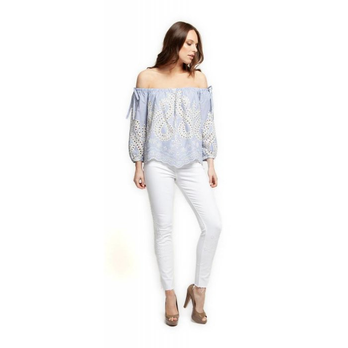 9522db341873b Embroidered Off Shoulder Shirt - Dutch Growers