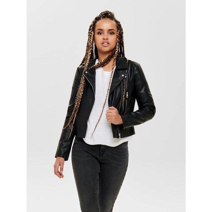Ilde Short Faux Leather Jacket