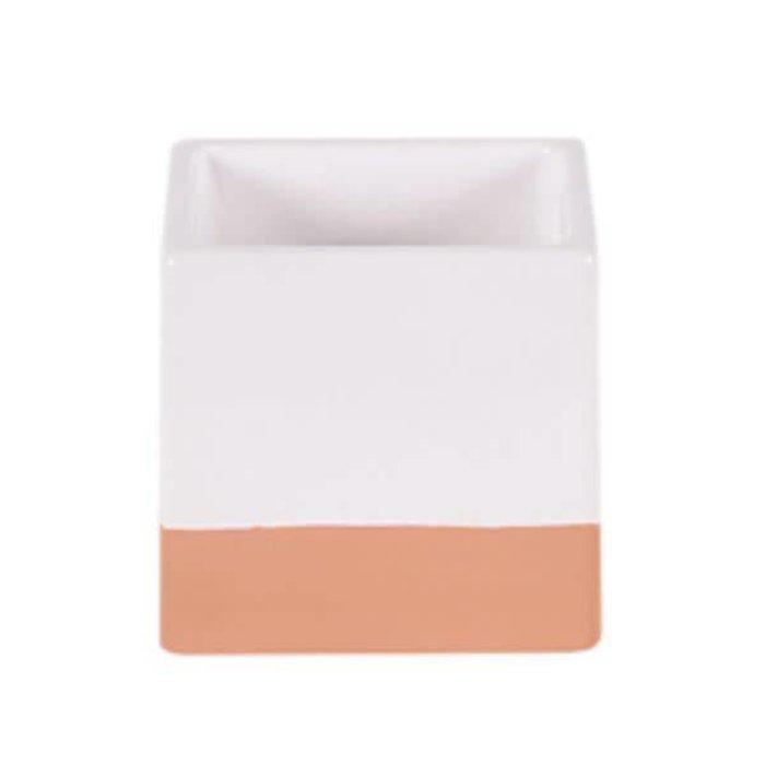 Square Glazed Pot