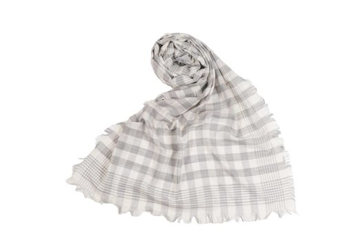 Pokoloko Check Scarf Grey