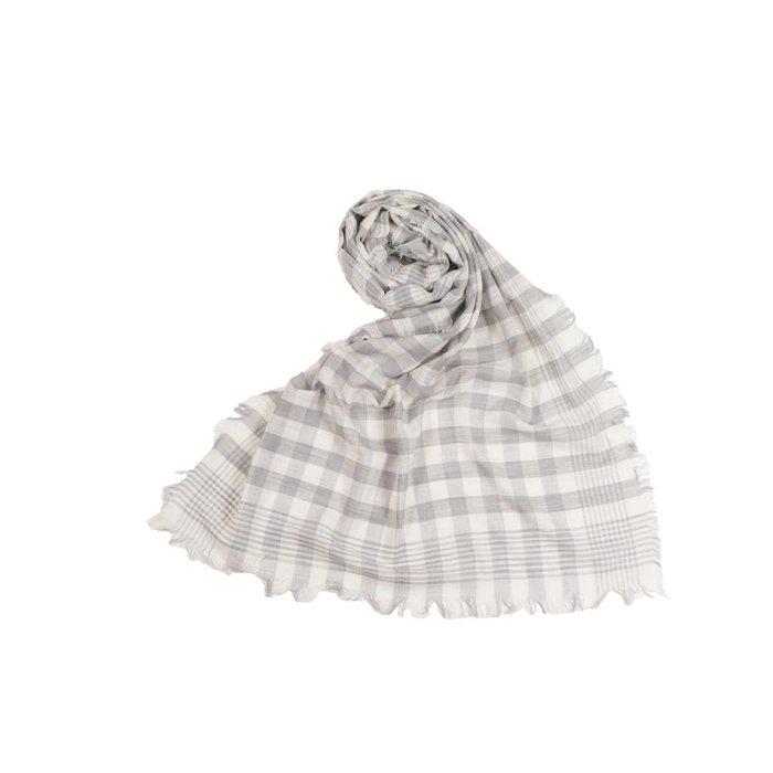 Check Scarf Grey