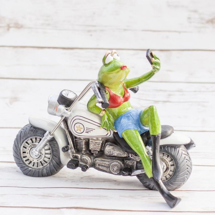 Frog on Motorcycle 25 x 16 x 19cm
