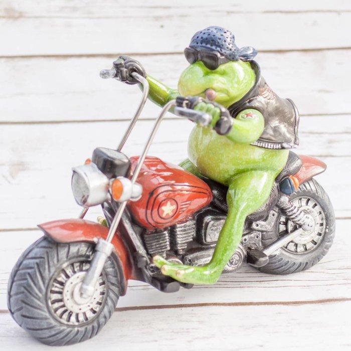 Frog on Motorcycle 25 x 14 x 18cm
