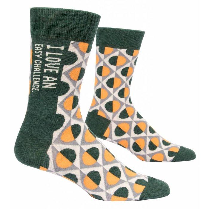 I Love Easy Challenge Men's Sock