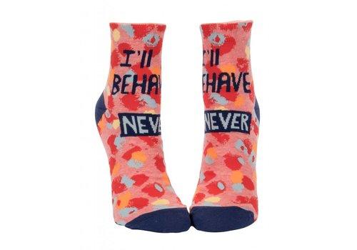 Blue Q I'll Behave Never Ankle Socks