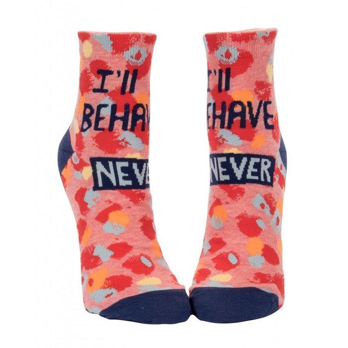 I'll Behave Never Ankle Socks