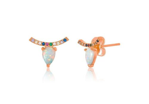 Melinda Maria Jocelyn Studs Rose Gold