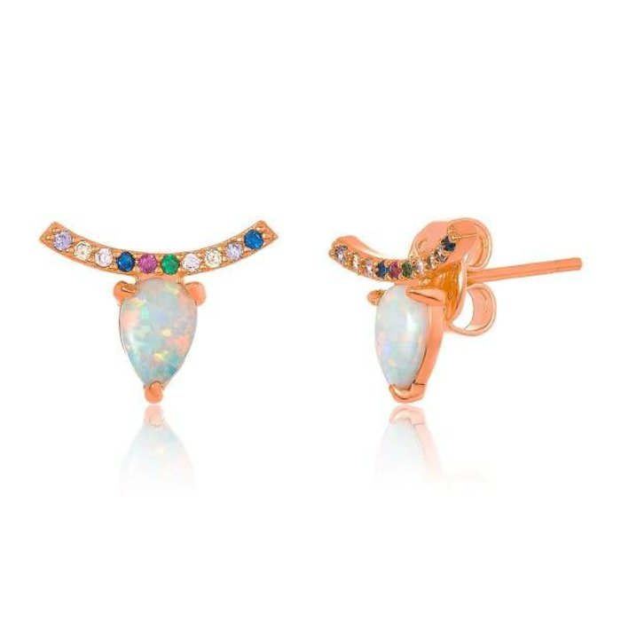 Jocelyn Studs Rose Gold