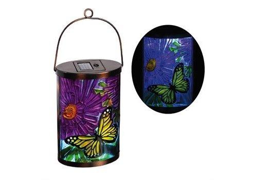 Evergreen Garden Friends butterfly solar lantern