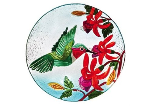 Evergreen Birdbath Hummingbird Flutter 18""