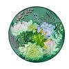 """Evergreen Glass Bird Bath Succulent 18"""""""