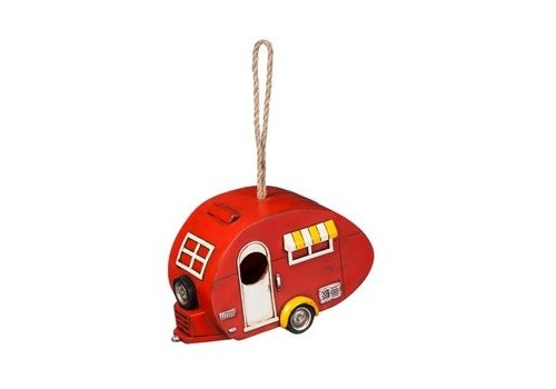 Evergreen Red Camper Birdhouse