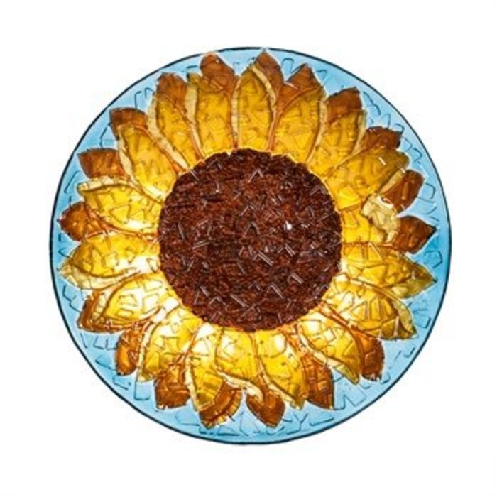 Sunflower Birdbath 18""