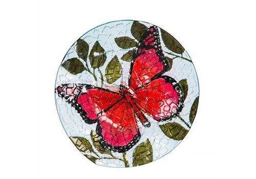 Evergreen Birdbath Butterfly 18""