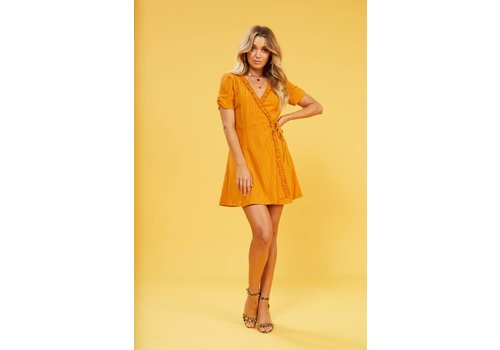 Mink Pink Selina Frill Wrap Dress