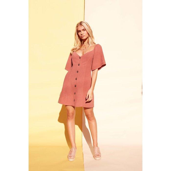 Button Up Mini Dress
