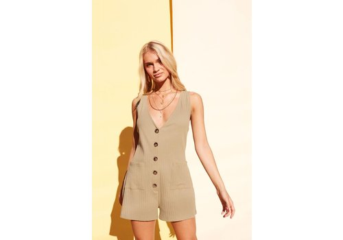 Mink Pink Button Up Playsuit