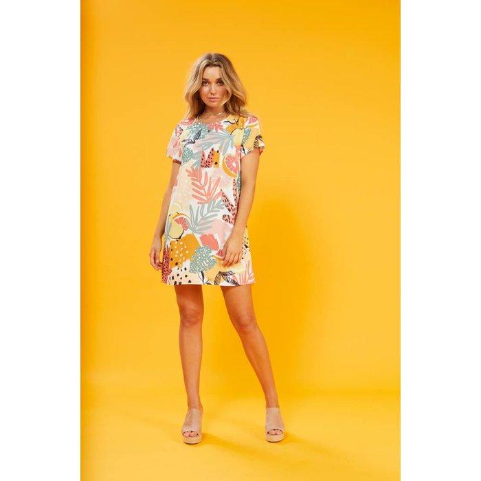 Spring Citrus Tee Dress