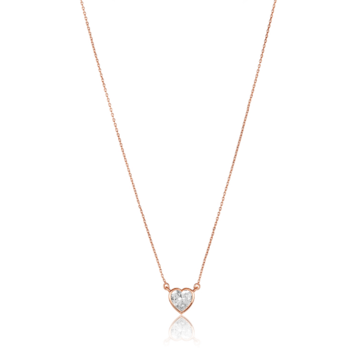 Lustig Diamondette Heart Necklace