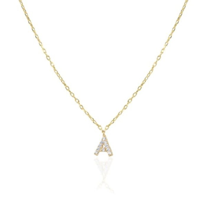 Itty Bitty Pave Letter Necklace