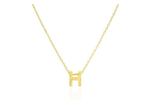 Melinda Maria Block Letter Necklace